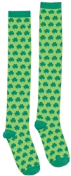 St. Patrick's Day Knee High Socks - Shamrocks | St. Patrick's Day Socks