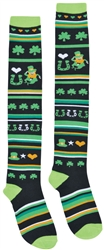 St. Patrick's Day Knee High Socks - Lucky Stripe  | party supplies
