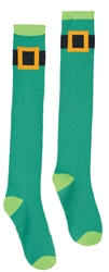 St. Patrick's Day Knee High Socks - Leprechaun Belt  | party supplies