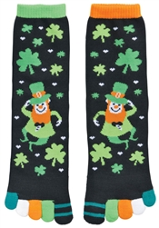 St. Patrick's Day Toe Socks - I Love Shamrocks  | party supplies