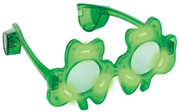 Light-Up Shamrock Glasses  | party supplies
