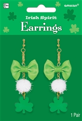 Irish Spirit Earrings  | party supplies