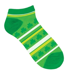 St. Patrick's Day No Show Socks - Striped  | party supplies