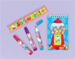 Sweet Treats Stationery Set | Party Supplies