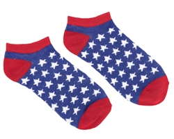 Patriotic No Show Socks | Party Supplies