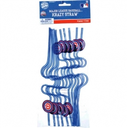 Chicago Cubs Krazy Straw Favors | Party Supplies