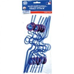 Los Angeles Dodgers Krazy Straw Favors | Party Supplies