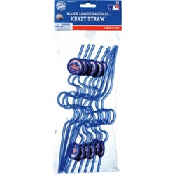 New York Mets Kraxy Straw Favors | Party Supplies