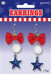 Patriotic Earrings | Party Supplies