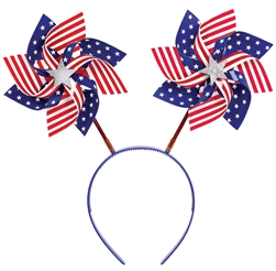 Patriotic Pinwheels Head Bopper | Party Supplies