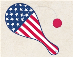 Patriotic Plastic Paddle Ball | Party Supplies