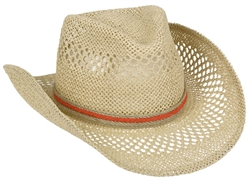 Natural Cowboy Hat with Hemp Band | Party Supplies