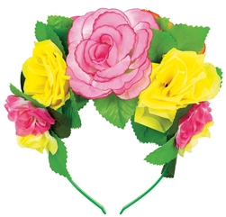 Deluxe Flowered Headband | Party Supplies