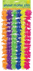 Neon Rainbow Flower Leis | Party Supplies