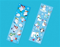 Winter Fun Printed Paper Strip Sticker | Party Supplies