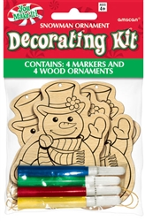 Snowman Ornament Decorating Kit | Party Supplies