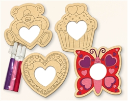 Valentine Wood Frame Decorating Kit Assortment | Valentine's Day Decorating Kit