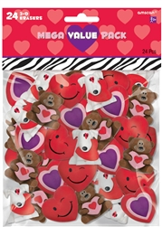 Valentine's Day 3-D Eraser Mega Value Pack | Valentine's Day Erasers