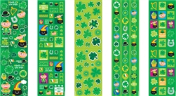 St. Patrick's Day Printed Paper Stickers | party supplies