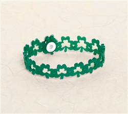 St. Patrick's Day Shamrock Rubber Bracelet | party supplies