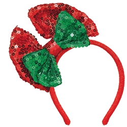 Christmas Headband w/Bow | Party Supplies