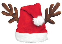 Antlers Santa Hat | Party Supplies