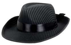 Pinstripe Wiseguy Hat | Party Supplies