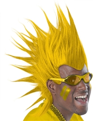 Yellow Mohawk Wig | Party Supplies