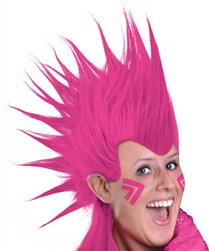 Pink Mohawk Wig | Party Supplies