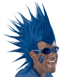 Blue Mohawk Wig | Party Supplies