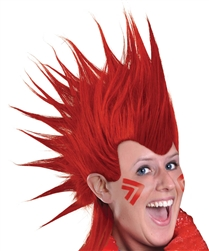 Red Mohawk Wig | Party Supplies