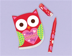 Owl Pad with Pen | Valentine's Day Owl Pad