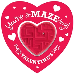 Valentine Cards with Heart Maze Puzzles | Valentine's Day Card Puzzle
