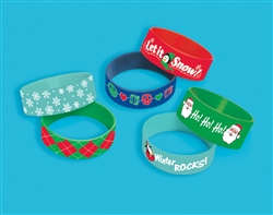 Christmas Silicone Cuff Band | Party Supplies