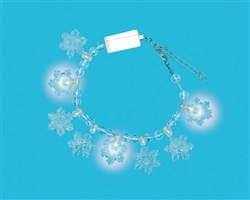 Snowflake Light-Up Bracelet w/Plastic Charms | Party Supplies