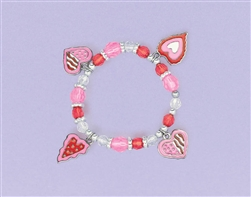 Valentine's Plastic Stretch Bracelet | Party Supplies