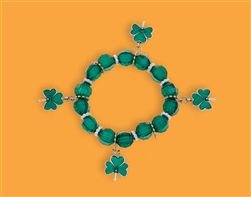 St. Patrick's Day Plastic Stretch Bracelet | party supplies