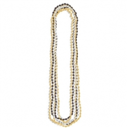 Metallic Bead Necklaces - Black, Silver & Gold | Party Supplies