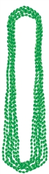 Metallic Bead Necklaces - Green | party supplies