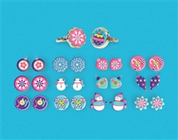 Christmas Earring/Ring Set | Party Supplies