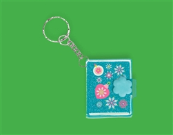 Christmas Glitter Keychain Notebook Bulk Favor | Party Supplies