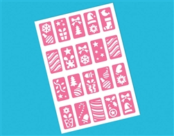 Christmas Nail Stencils Sticker | Party Supplies