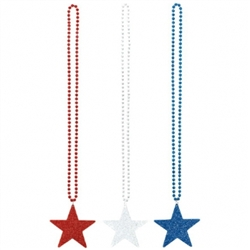 Patriotic Star Necklace | Party Supplies