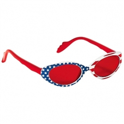 Patriotic Stars & Striped Glasses - Child | Party Supplies