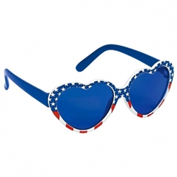 Patriotic Red, White & Blue Glasses - Child | Party Supplies