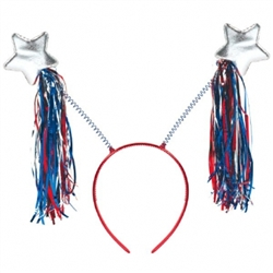 Patriotic Tinsel Headband | Party Supplies