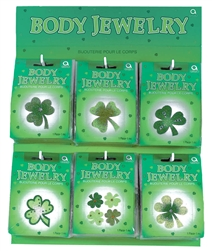 St. Patrick's Glitter Body Jewelry Assortment | St. Patrick's Day Party Accessories