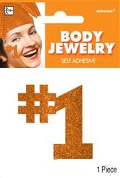 Orange Body Jewelry | Party Supplies