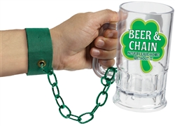 St. Patrick's Day Beer & Chain Arm Band | St. Patrick's Day Party Supplies