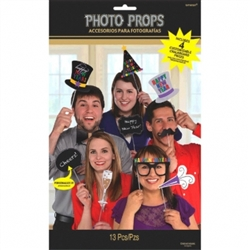 New Years Photo Prop Kit | Party Supplies